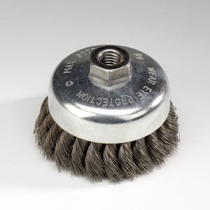 WCB-40 : 4in. Twisted Wire Cup Brush