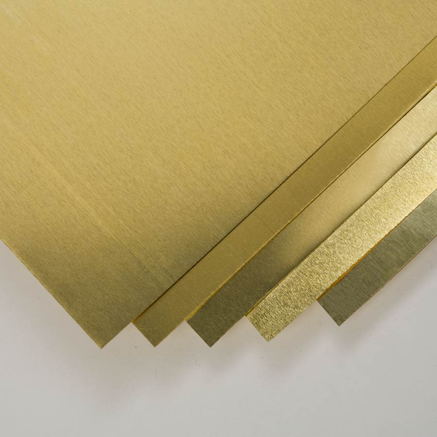 Brass Shim Stock Pack includes 5 sizes.