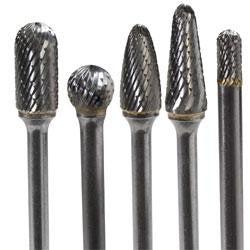 LFR-KIT : 5 Pc. Set Double Cut Carbide Rotary Files