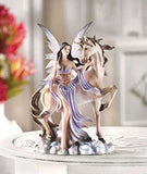 Fairy Maiden and Unicorn Figurine