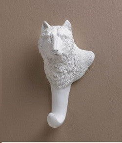 White Wolf Wall Hook
