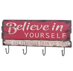 Iron Believe In Yourself Wall Hook