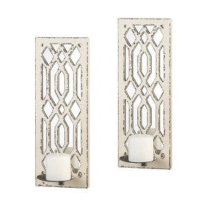 Weathered Mirror Wall Sconce