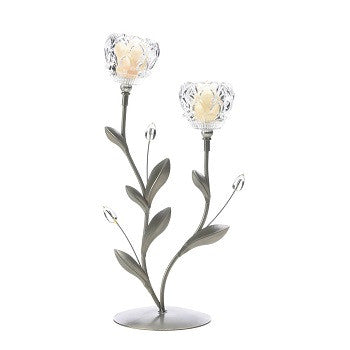 Flower Crystal Duo Candleholder
