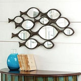 School Of Fish Wall Mirror