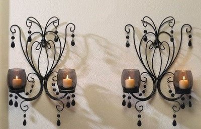 Midnight Elegance Duo Wall Sconces
