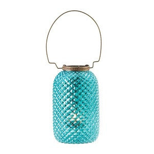 Diamond Candle Lantern - Blue