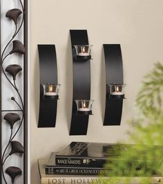 Contemporary Wall Sconce Trio