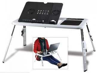 Executive Laptop workstation with Dual laptop fans & More!