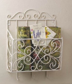 Cottage Charm Magazine/Wall  Rack
