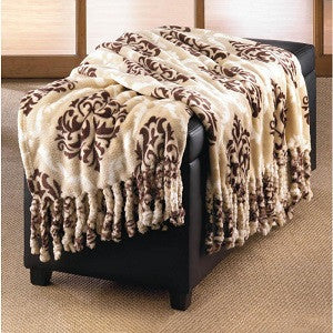 Baroque Tassel Throw Blanket