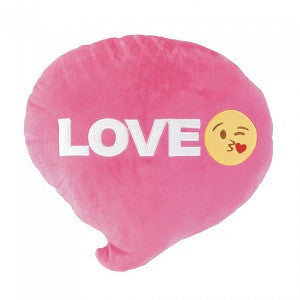 Emojico Bubble Word Love Throw Pillow