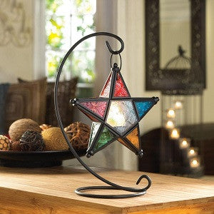 Colorful Star Lantern With Stand