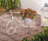 White Tricycle Plant Display