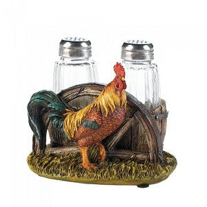 Country Farm Rooster Salt and Pepper Holder