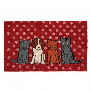 Dogs & Cats Welcome Mat