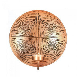 Copper Circles Accent Sconce