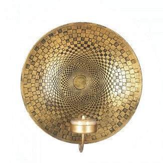 Golden Geometric Accent Sconce