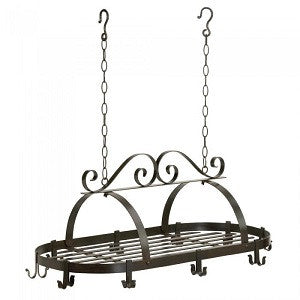 Swirl Design Hanging Pot Rack