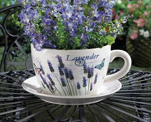 Lavender Fields Teacup Planter