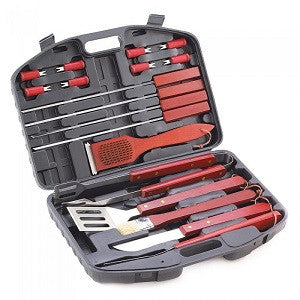 19 Piece Deluxe BBQ Tool Set In Case