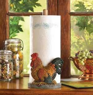 Country Rooster Paper Towel Holder