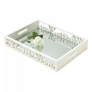 Charming Welcome Home Mirror Tray