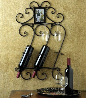 Scrollwork Wall Rack