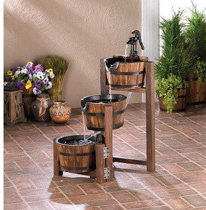 Cascading Barrel Fountain