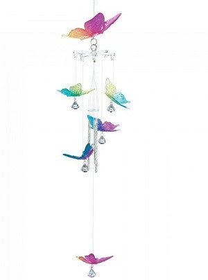 Rainbow Butterfly Wind Chime