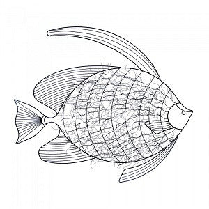 Intricate Fish Wall Decor 32 Inch