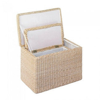 Natural Rush Nesting Storage Trunks Trio