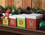 Festive Snow Box Decor
