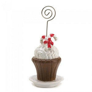 Candy Cane Cupcake Place Card Holder