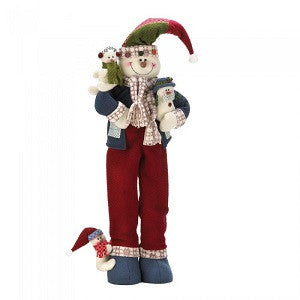Merry Snowman Plush Decor 26 Inch Tall