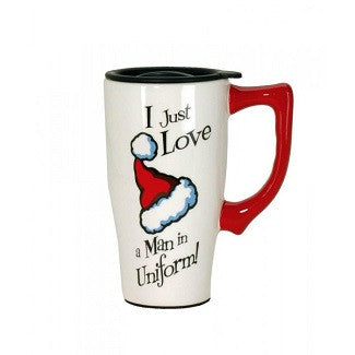 Santa Hat Travel Mug