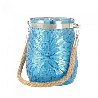 Blue Flower Candleholder