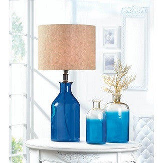 Blue Bottle Table Lamp