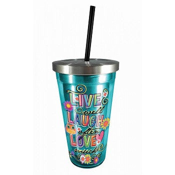 Live Laugh & Love Stainless Steel Cup