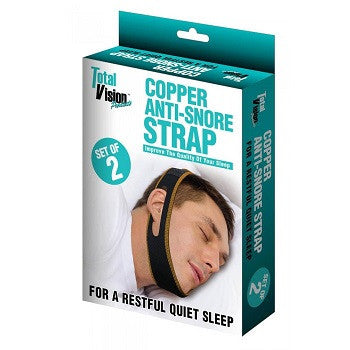 Copper Anti Snore Strap Set Of 2