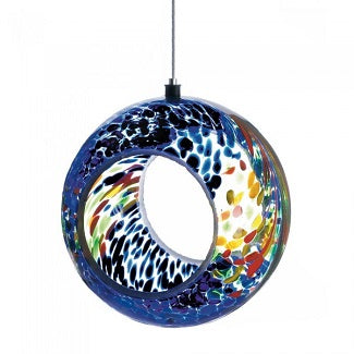 Beautiful Multi Color Glass Bird Feeder