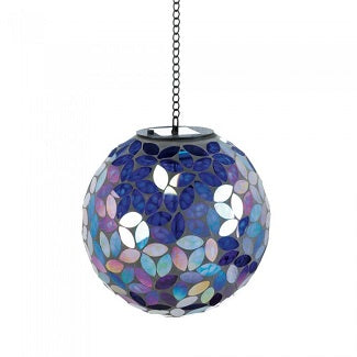 Blue Shades Solar Mosaic Ball-Large