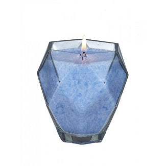 Blue Topez Jewel Glass Candle