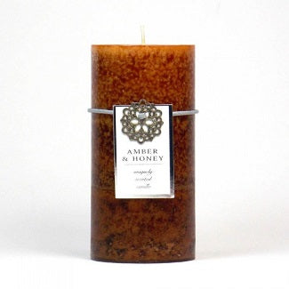 Amber & Honey Pillar Candle 3x6