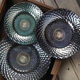 Amazing Iridescent Large Decorative Plate