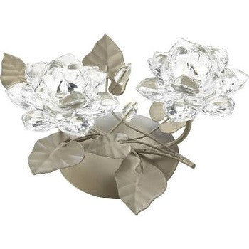 Crystal Flower Centerpiece Candleholder