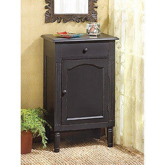 Antiqued Black End Table
