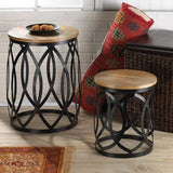 Contemporary Accent Table/Stool Set of Two!