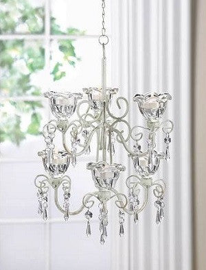 A Romantic Crystal Blooms Double Chandelier
