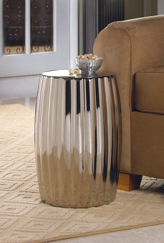 Glamorous Silver Decorative stool